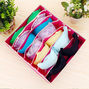Image 3 - 6 24 Коробка Для Хранения нижнего белья, органайзер для носков, коробка для хранения бюстгальтеров для гостиной, спальни, складные Органайзеры