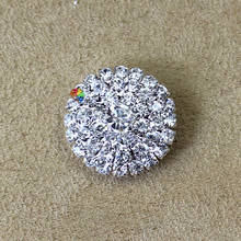 10pcs 25mm crystal rhinestone brooch pins diamante button centerpieces in  Gold Silver DIY browband Garment Wedding 7fb936c8c379