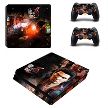 As Dragon 6 Decal Skin For PS4 Slim Console Cover For Playstation 4 PS4 Slim Skin Stickers+ Controll