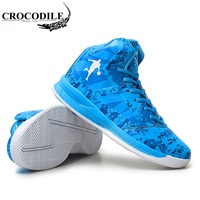 CROCODILE New Man High top Basketball Shoes Men's Cushioning Light Basketball Sneakers Anti skid Breathable Outdoor Sports 36 45