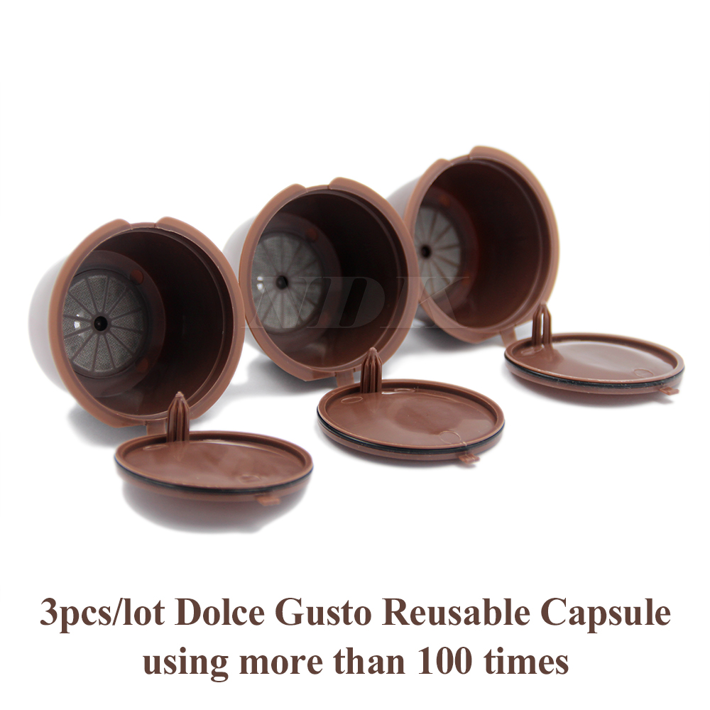 3pcs pack refillable dolce gusto coffee capsule nescafe. Black Bedroom Furniture Sets. Home Design Ideas