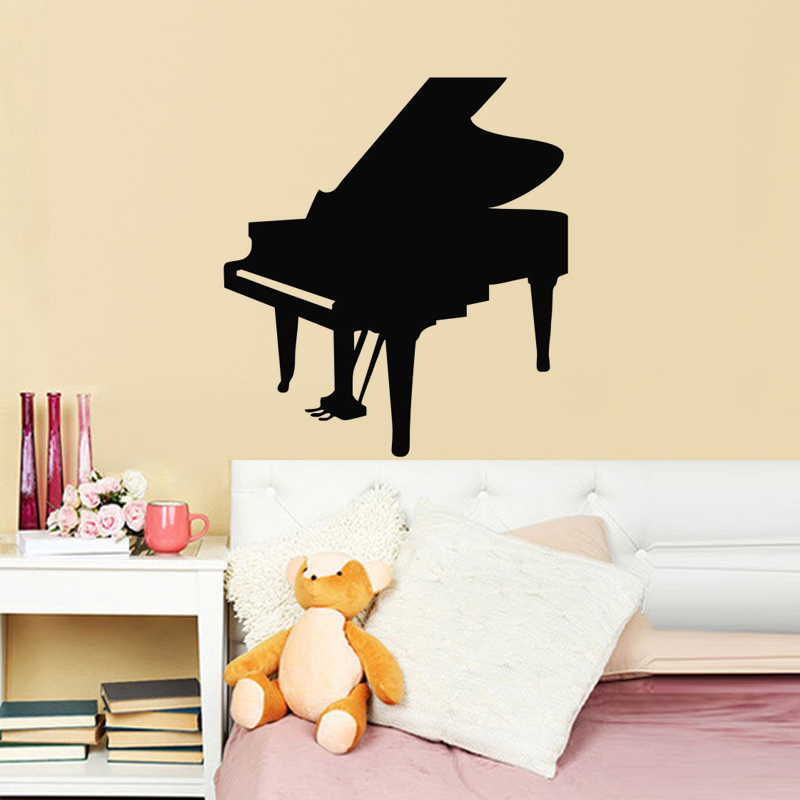 Us 528 Living Room Wall Decor Mural Musical Instruments Piano Wall Stickers Home Decoration Vinyl Art Wall Decals In Wall Stickers From Home