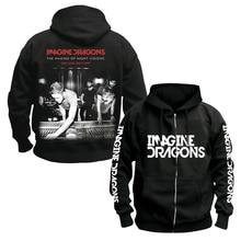 Bloodhoof Imagine Dragons Indie Rock alternativo Rock punk band Sudadera con capucha de algodón negro para hombre talla asiática