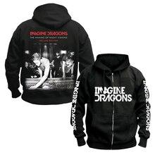 Sanguhoof Imagine Dragons Indie Rock Alternative groupe de Rock punk hommes sweat à capuche en coton noir taille asiatique