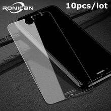 10 pçs/lote vidro temperado para iphone x 5 5S 5c 6 s 7 8 plus à prova de explosão protetor de tela filme no iphone xr xs max 4 4S vidro