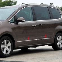 Для VW Volkswagen sharan 2012 2013 2014 2015 Нержавеющая Сталь хром тела боковой молдинг боковые дверные панели 4 шт./компл.