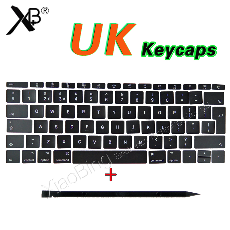 NEW Laptop A1706 A1707 A1708 Keys Keycaps UK English for Macbook Pro Retina 13 15 UK Keyboard Keys Key Cap Late 2016 Mid 2017 image