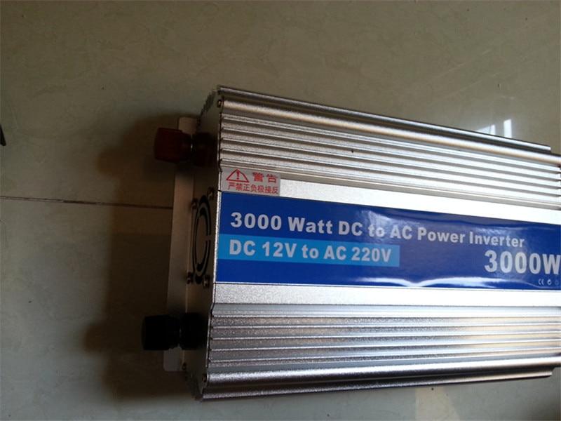 3000W-2,Modified Sine Wave power inverter 3000w peak 6000W DC12V to AC 220V dc ac car Power Inverter,Body size:340mm*205mm*80mm