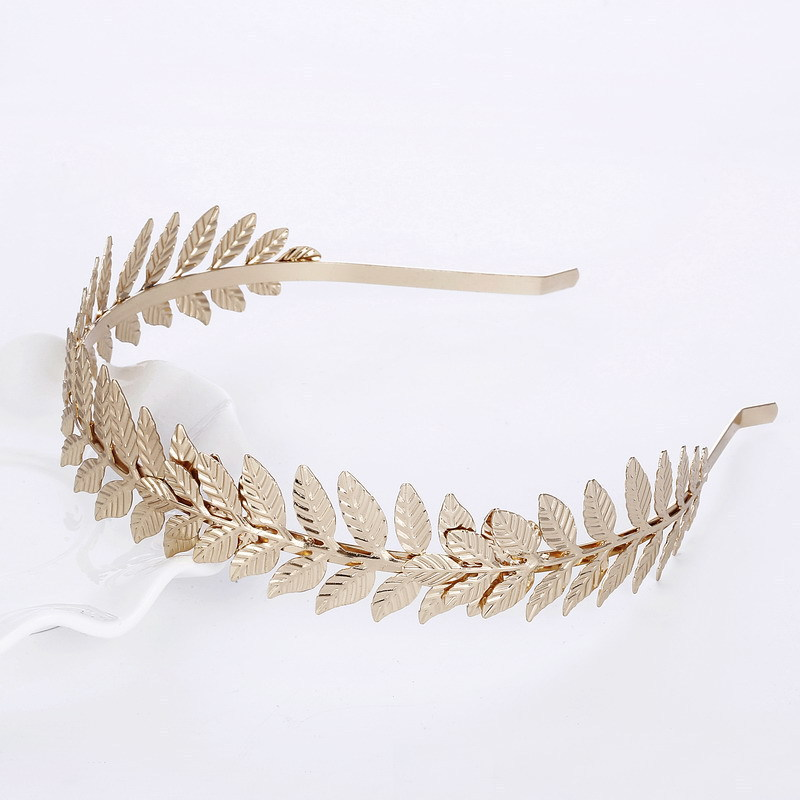 Mossovy Gold Color Leaf Headband for Women Fashion Popular Alloy Hair Accessories for Female Jewelry Accesorios Para El Cabello in Hair Jewelry from Jewelry Accessories