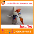 Free shipping~2pcs/lot 20g uv glue Adhesive Remover+5ml UV LOCA Glue liquid .Dispergator to remove UV glue LOCA Liquid cleaner