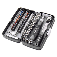 38 pcs/set Multitool Combination Mini Ratchet Wrench Tool Set 1/4 Socket Screw Bits Kit Bike Maintenance Repair Hand Tool