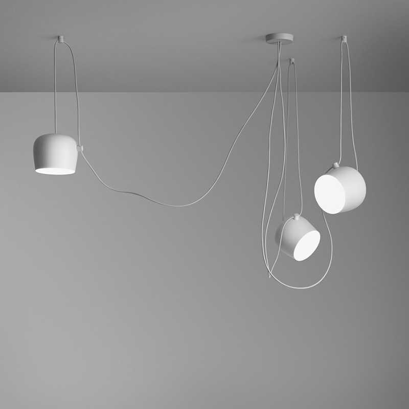 Bongos 카페 바 산업 luminaire 복제 디자인 샹들리에 주방 램프 현대 쇼케이스 조명 금속 그늘 블랙/화이트 DIY
