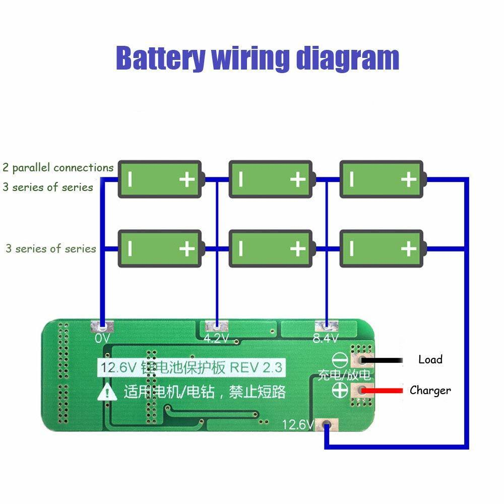 Image 2 - 3S 20A 12.6V Li ion Lithium Battery 18650 Charger Protection Board PCB BMS Cell Charging Protecting Module-in Battery Accessories from Consumer Electronics