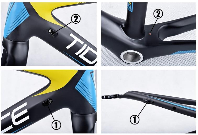 HTB1CNN.kGmgSKJjSspiq6xyJFXa2 - 2017-2018 Tideace aero Cadre Route Frameset Made in China Carbon Fiber Road Bike Frame Bicycle Frame 50/53/55cm
