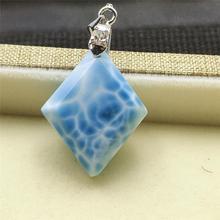 Best Quality Natural Larimar Blue Gemstone Women Men Pendant 26x20x8mm Jewelry Bead Love Gift Fashion Necklace AAAAA