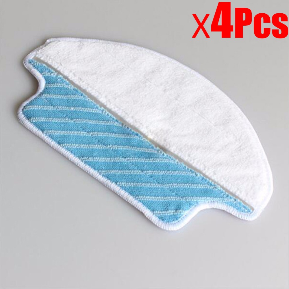 4Pcs Robotic Vacuum Cleaner Washable Replacement Wet Dry Mopping Pad Cleaner parts for Ecovacs DEEBOT DT85 DT83 DM81 SDT85G 5set vacuum cleaner parts replacement 5 hepa filter 5 cotton for ecovacs dibea dt85 dt83 dm81 vacuum cleaner parts