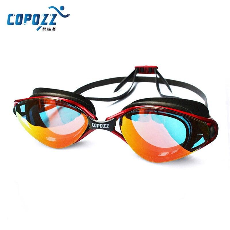 COPOZZ Neue Berufs Schwimmen Brille Anti-Fog UV Einstellbare Beschichtung männer frauen Wasserdichte silikon gläser erwachsenen Brillen