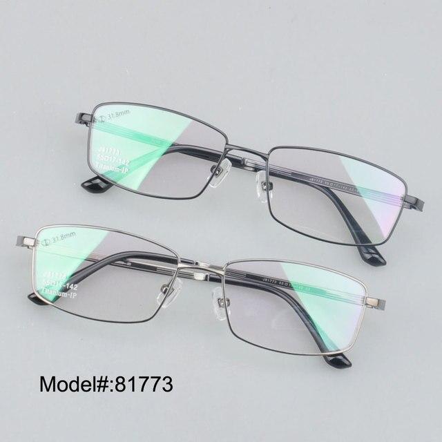 81773 хорошее качество мода дизайн полный рим чистого титана близорукость очки очки по рецепту очки RX оптических оправ