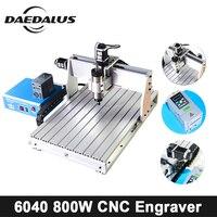 CNC 6040 гравер 0.8KW/1.5KW/2.2KW 220 В с воздушным охлаждением шпинделя 3 оси ШВП мини гравер мягкий материал для фрезерный станок