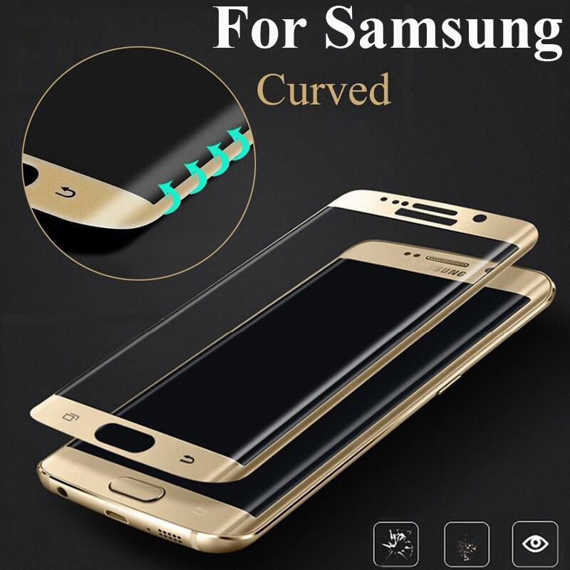 3D Curved Color Full Cover Tempered Glass For Samsung Galaxy S8 Plus S7 Edge S6 Edge Plus Screen