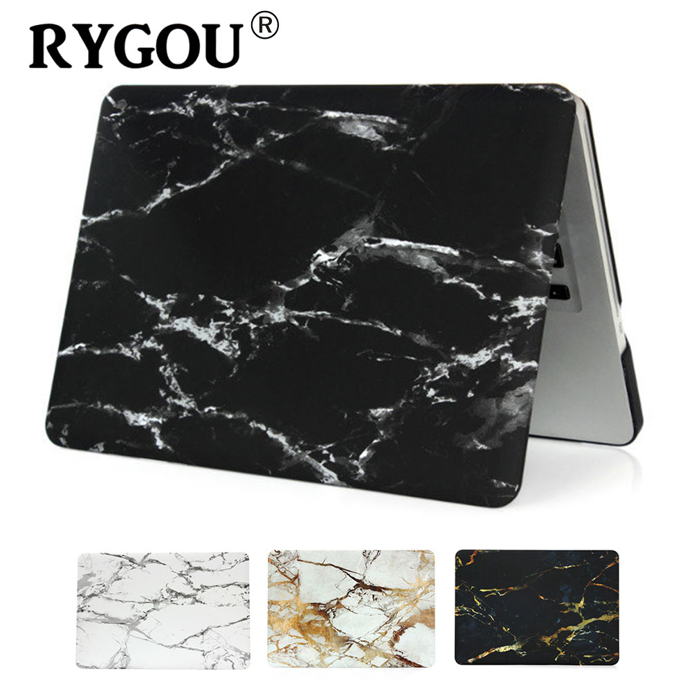 "2018 New Marble Frosted Surface Matte Hard Cover Fodral För Macbook 12 '' Air 11 ""13"" Pro 13 ""15"" Pro Retina 13 15 tums bärväska"
