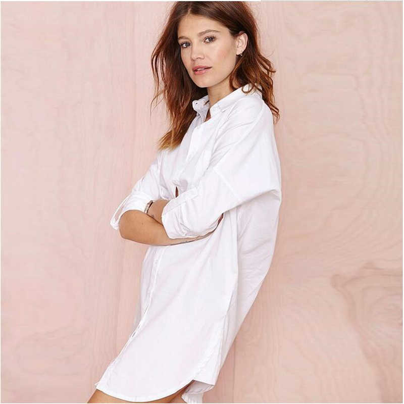 4 Color Blusas Women Blouse Shirt Oversized Long Sleeve White2019 Plus Size Camisas Femininas Tops Casual Loose Long Blouses428