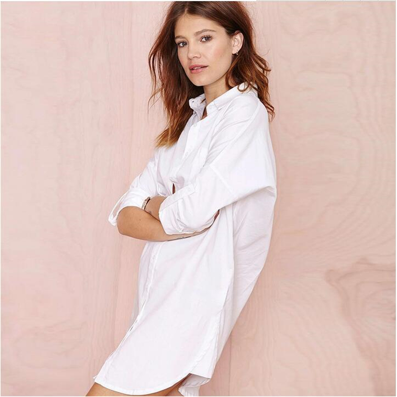 4 Color Blusas Women   Blouse     Shirt   Oversized Long Sleeve White2018 Plus Size Camisas Femininas Tops Casual Loose Long Blouses428