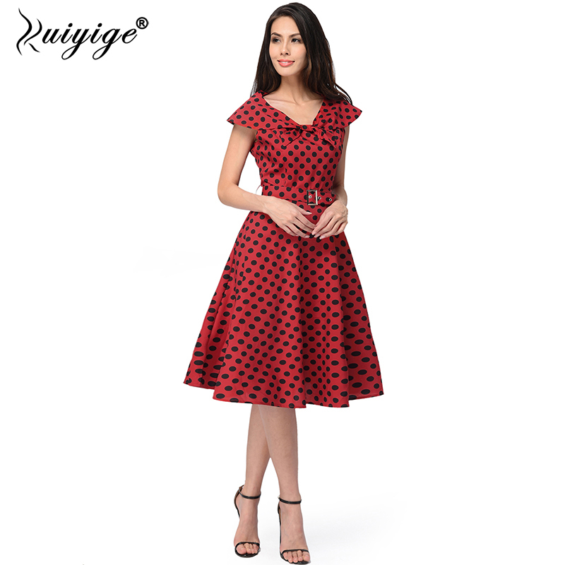 Trend Mark Ruiyige 2018 Summer Sexy Polka Dot Midi Dress V Neck Casual Sailor Collar Holiday With Belt Party Dresses Women Bench Vestidos Invigorating Blood Circulation And Stopping Pains Women's Clothing