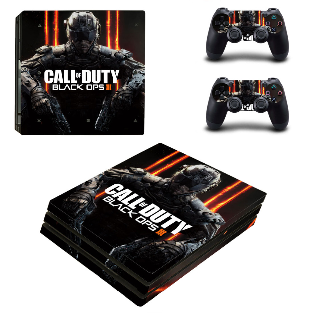 CALL AND D For PS4 Pro Skin Sticker For Sony Playstation 4 Pro Console and 2Pcs Controller Skins Wooden free shipping