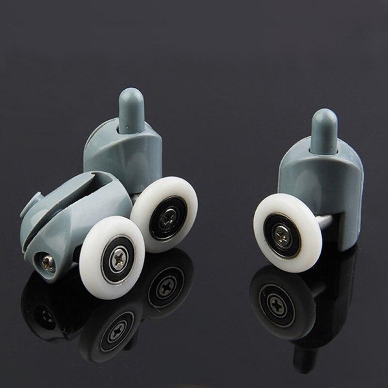 4 piezas-8 piezas/set ducha cabañas polea ducha habitación/rodillo de corredores/0 ruedas/ poleas Diameter20mm/22mm/23mm/25mm/27mm