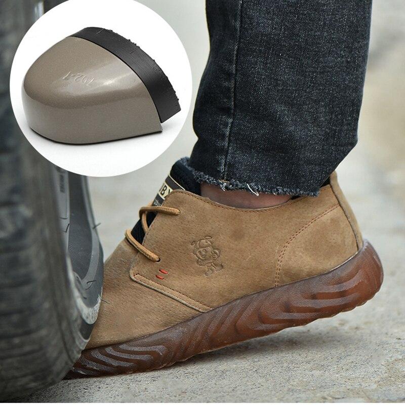 bf0113b988f899 Homens da moda sapatos de segurança com biqueira de aço à prova de balas  material solas