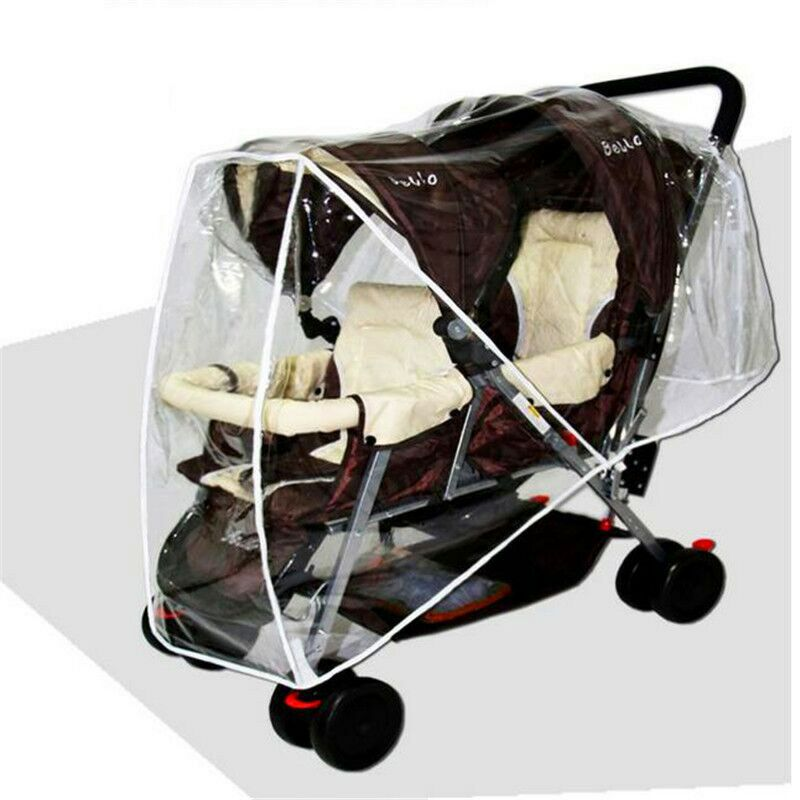 Universal twin stroller rain wind cap double seat around environmental protection tasteless quality safety Cart rain cove LMY068