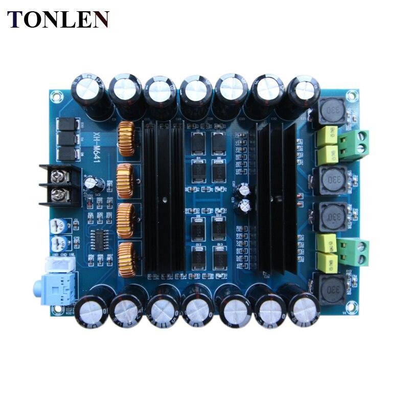 TONLEN TPA3116D2 carte amplificateur de puissance Audio numérique 150 W * 2 bricolage HIFI amplificateur de puissance de voiture DC12V-24V Module amplificateur 2.0 canaux