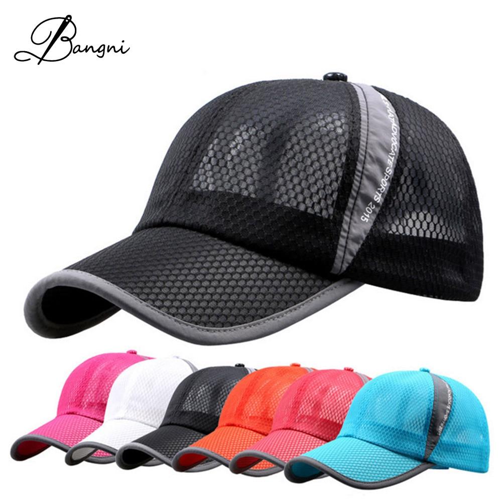 Men Snapback Adjustable Baseball Cap Mesh Hip Hop Golf Hat Mesh Hat Cotton Casquette Caps Sports Caps For Women tracker hats