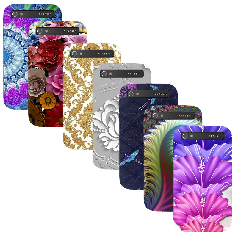 For Blackberry Classic Q20 Printed Case Luxury Hard Plastic Drawing Phone Shell For Blackberry Q20 Flower Back Cover