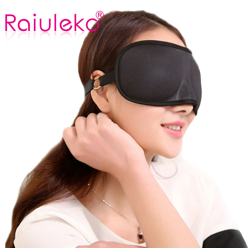 High Quality 3D Sleep Masker Naturlig Silk Snorking Super Smooth Sleep Eye Mask Bliv på dit ansigt hele natten