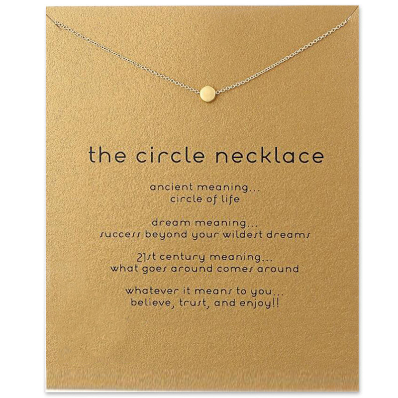 Best buy ) }}Trendy The Circle Necklace For Women Minimalist Pendant