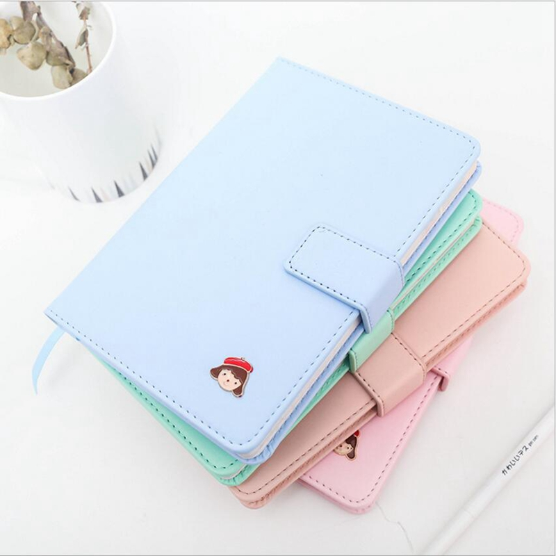 2018 Kawaii little girl Planner notebooks Weekly Daily Monthly Yearly Agenda Plan Cute Colorful Pages Notebook School Stationary new 2018 cute 365 planner notebook daily happy weekly monthly planner agenda day plan notebooks journal diary stationery a5
