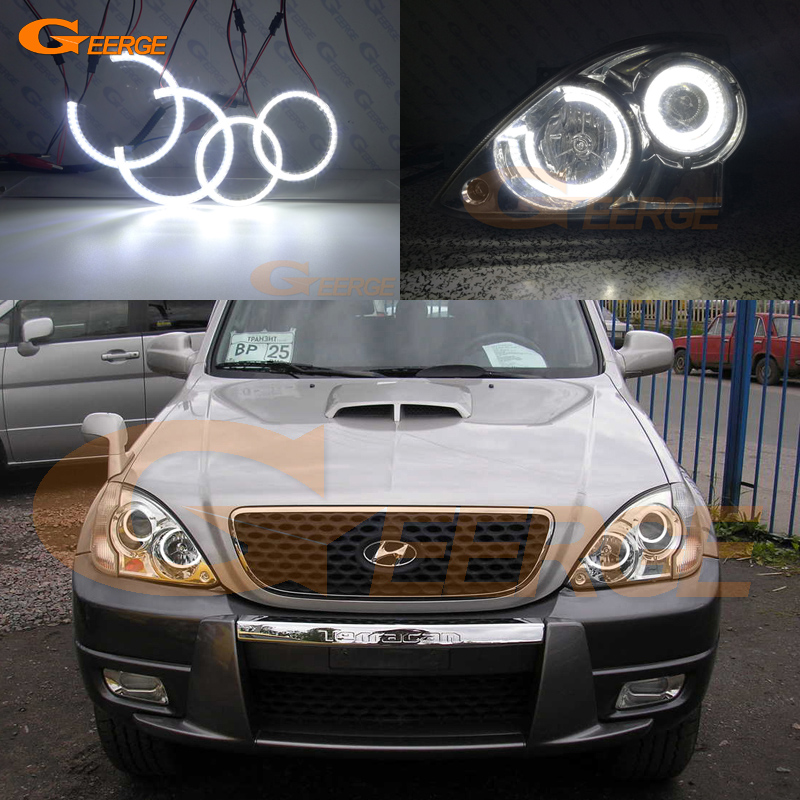 Фото For Hyundai Terracan 2001-2007 headlight Excellent angel eyes Ultra bright illumination smd led Angel Eyes Halo Ring kit