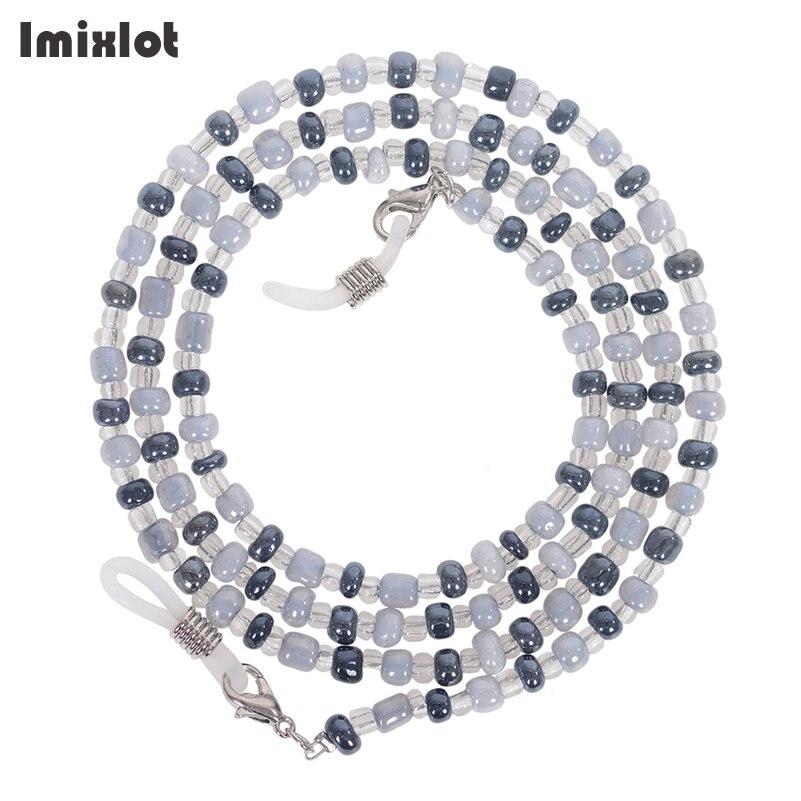 High-end Eyeglass Chain Colorful Glass Beads Chains Anti-slip Eyewear Cord Holder Sunglasses Lanyard Strap Reading Glasses Rope