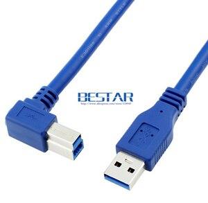 Image 3 - 90 Gradi Destro Angolato USB 3.0 A Maschio a USB 3.0 Tipo B maschio BM USB3.0 Cavo 0.6 m 1 m 1.8 m 2FT 3FT 6FT Per scanner stampante HDD
