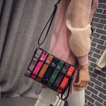 New women's handbags Korean fashion color European and American women tote bag contrast color fence handbag leisure shoulder bag цена 2017