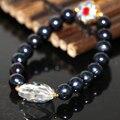 9-10 мм natural black пресноводные культивированный жемчуг браслеты женщины элегантные подарки перегородчатой уникальный дизайн ювелирных изделий 7.5 inch B2971