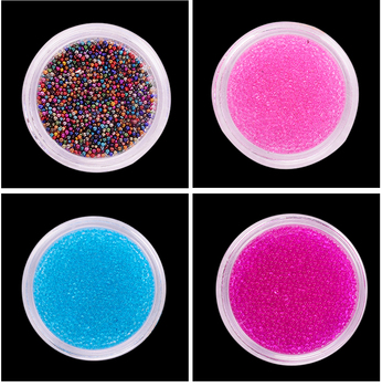 Caviar Beads Nail Art Decoration Mini Glitter Micro Pearl Mini Beads Manicure Nail Art 3D Decoration 12 Colors Available image