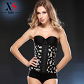 2015 hot Shapewear Waist Cincher trainer latex waist trainer cincher skeleton pattern 9 Steel Bones Sexy Latex Corset Bustiers