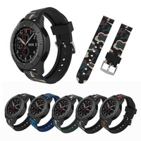 FOHUAS Camo Watch Band For Samsung Gear S3 22mm Steel Buckle Wrist Luxury Brand New Fashion