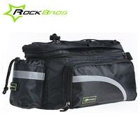ROCKBROS Larger Capacity With Rain Cover Mountain Bike Bicycle Bicicleta Bag Rear Carrier Bags Rear Pack Trunk Pannier Package