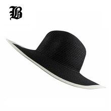 [FLB] 2017 fashion Seaside sun visor hat female summer sun hats for women large straw sun hat folding beach girls wholesale