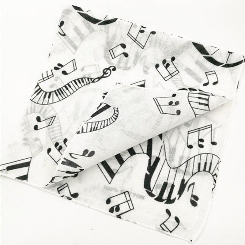 2017 Fashion Hip Hop  Music Note Keyboard Pattern Head Scarf Wrap Bandana Print Wristband Headband 12pcs/lot  55*55cm