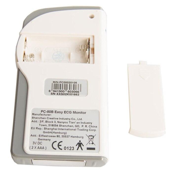 Household Health Monitors Heal Force PC-80B ECG Monitor Measuring Heart Cardiac Detector LCD Electrocardiogram Heart Monitor 9